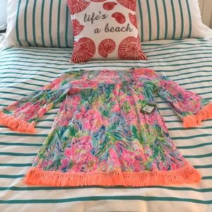 NWT Lilly Pulitzer Beach Cover Up Dress Med
